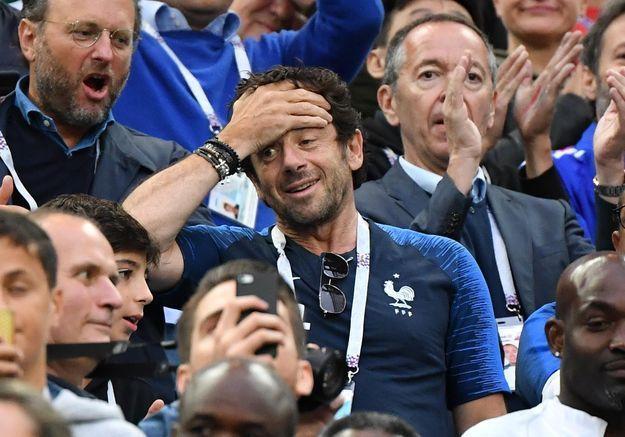 France-Belgique : dans les tribunes, les stars laissent exploser leur joie