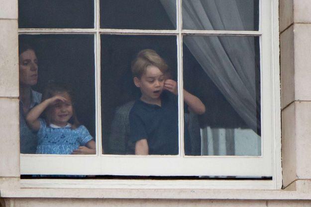 La princesse Charlotte et le prince George