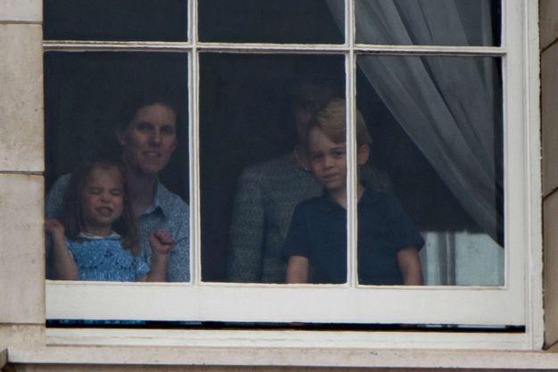 Pour l'occasion, la princesse Charlotte a sorti ses plus belles grimaces