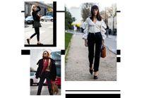 Street style : que porter avec un jean noir