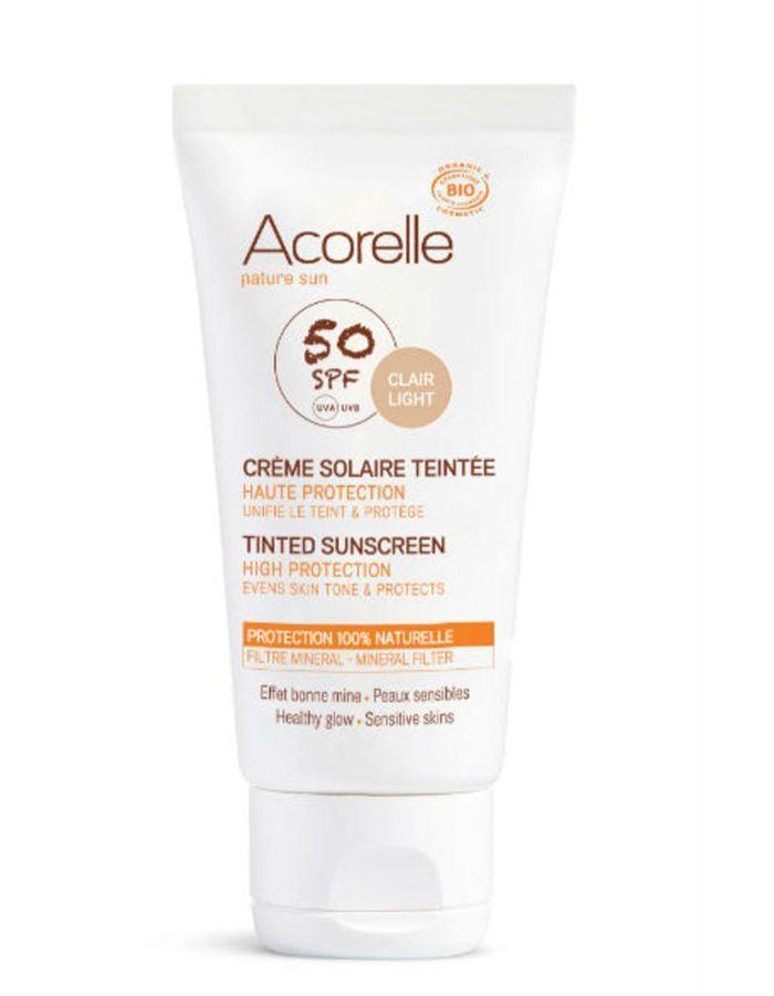 Crème solaire teintée SPF 50, Acorelle