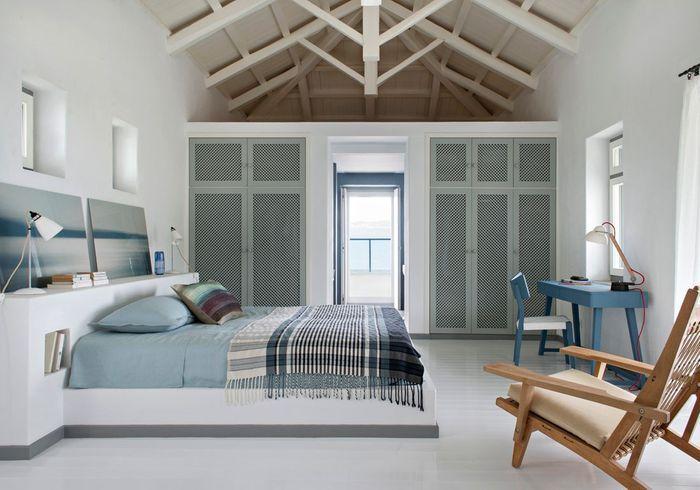Une chambre bleue apaisante