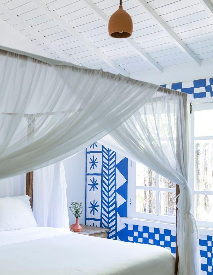 Une chambre bleue comme en Grèce