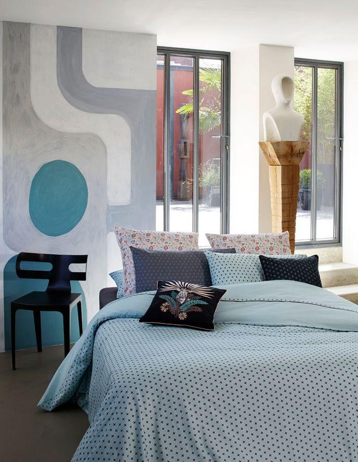 Une chambre bleue unique