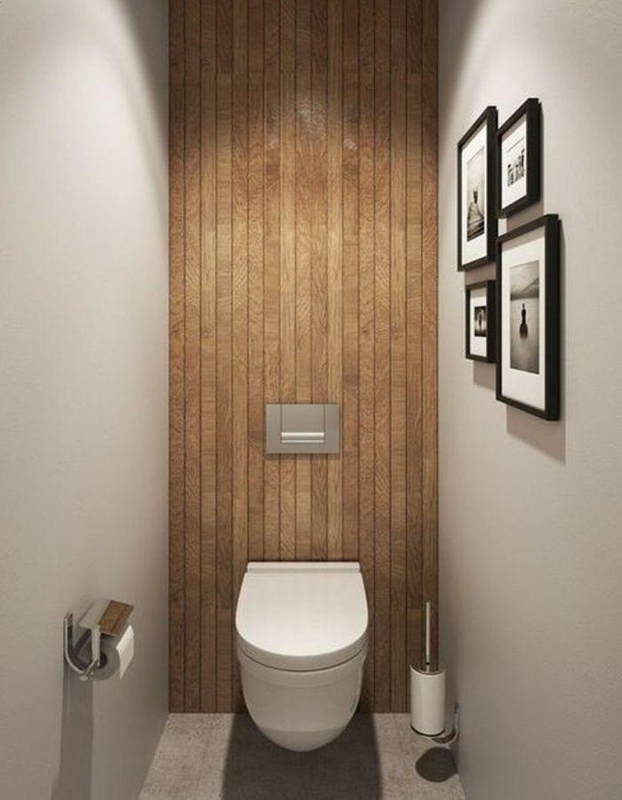 Décorer ses toilettes avec du bois
