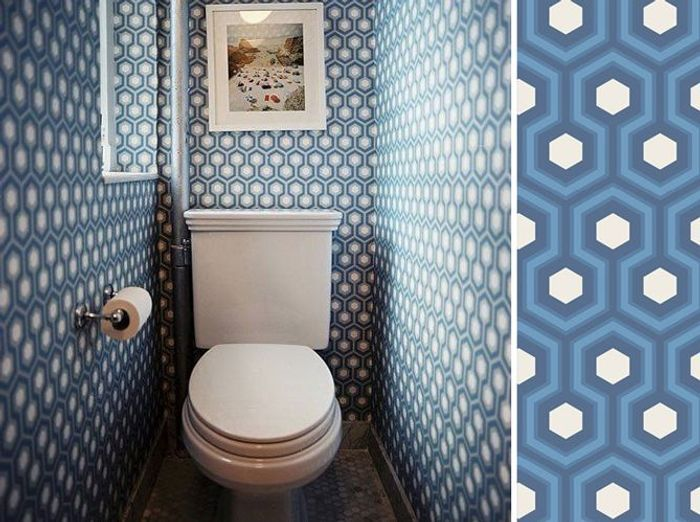 Décorer ses toilettes avec du papier peint