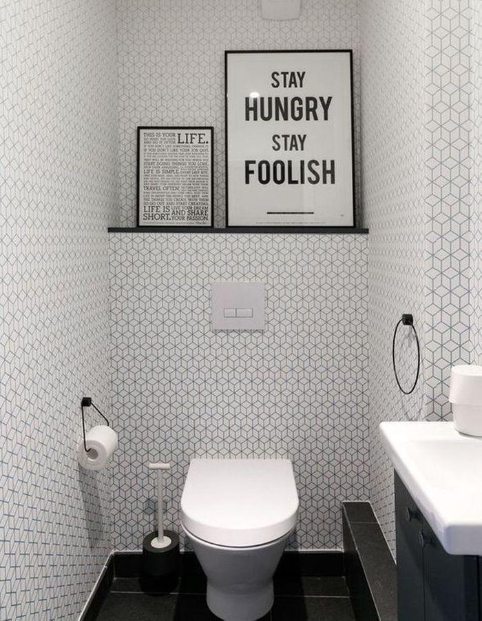 Décorer ses toilettes dans un style contemporain