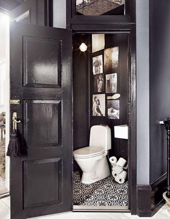 Oser le noir pour décorer ses toilettes