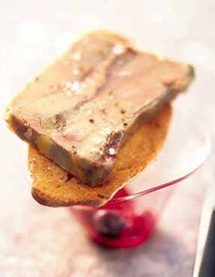 Terrine de foie gras et queue de boeuf