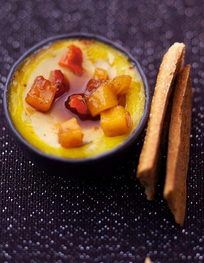 Foie gras, chutney de mangue et ananas